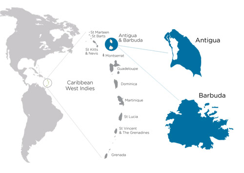 Antigua And Barbuda World Map.Antigua And Barbuda Citizenship